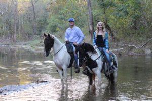 Horse riding trails water views Nashville